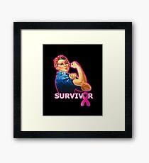 Breast Cancer Survivor Framed Print