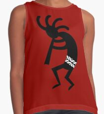 Red And Black Kokopelli Contrast Tank