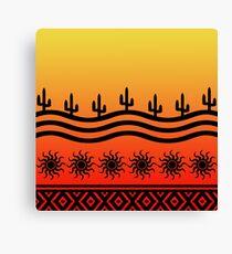 Southwest Desert Cactus Ombre Sunset Canvas Print