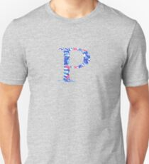 Rho Tropical Letter Unisex T-Shirt