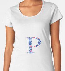 Rho Tropical Letter Women's Premium T-Shirt