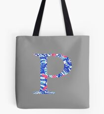 Rho Tropical Letter Tote Bag