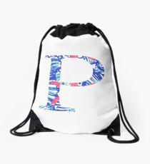 Rho Tropical Letter Drawstring Bag