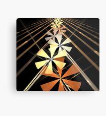 Copper Petal Rays Metal Print