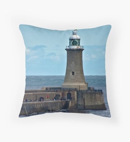 Harbour Light - Whitley Bay. Throw Pillow