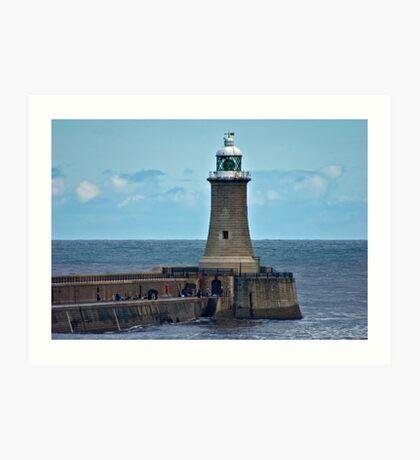 Harbour Light - Whitley Bay. Art Print