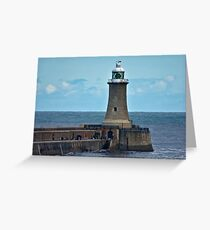 Harbour Light - Whitley Bay. Greeting Card
