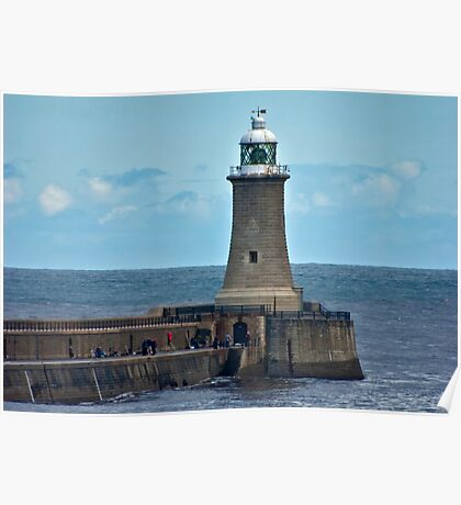 Harbour Light - Whitley Bay. Poster