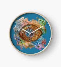 GOLDEN STEAMPUNK EYE Clock