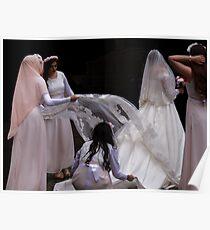 The white Bridal Veil Poster