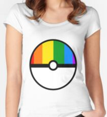 Gay Pokeball  Women's Fitted Scoop T-Shirt