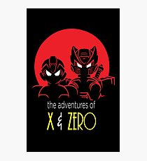 The adventures of X and Zero Photographic Print