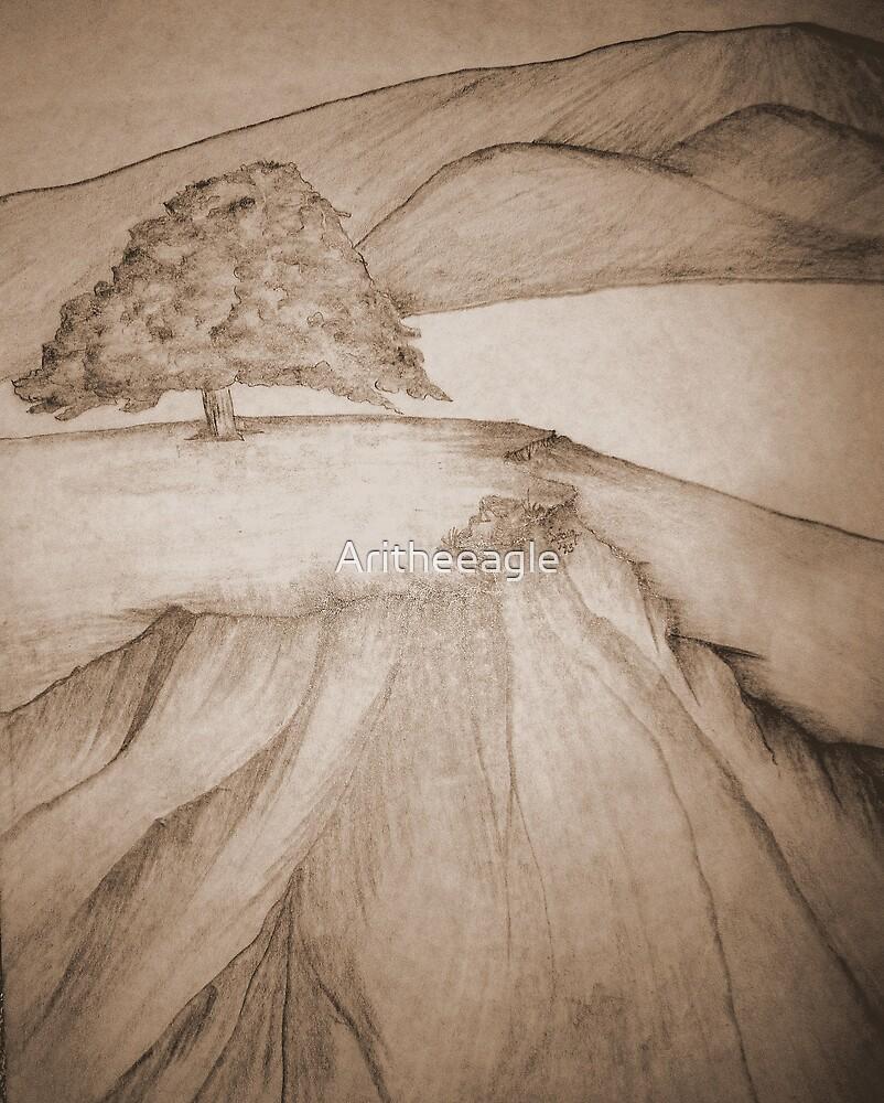 Ari's ART: .. SOLITARY TREE by Aritheeagle