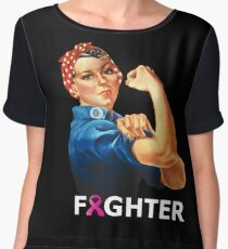 Breast Cancer Fighter! Rosie the Riveter shirt Women's Chiffon Top
