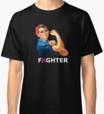 Breast Cancer Fighter! Rosie the Riveter shirt Classic T-Shirt