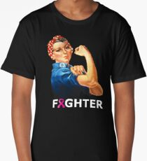 Breast Cancer Fighter! Rosie the Riveter shirt Long T-Shirt