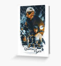 James Bond 007 Quantum of Solace Daniel Craig Greeting Card