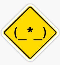 Caution: Asshole! Sticker