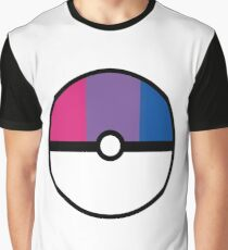Bisexual Pokeball Graphic T-Shirt