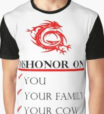 Mushu Dishonor Graphic T-Shirt