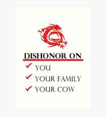 Mushu Dishonor Art Print