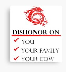 Mushu Dishonor Metal Print