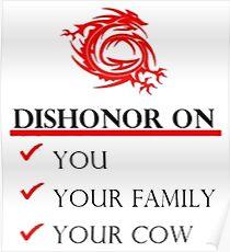 Mushu Dishonor Poster