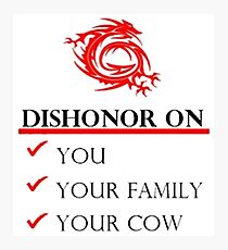 Mushu Dishonor Photographic Print