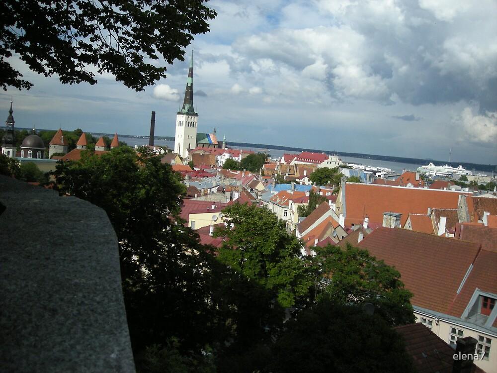 Old Tallinn view by elena7