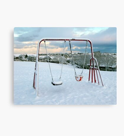 Swing With a View Canvas Print