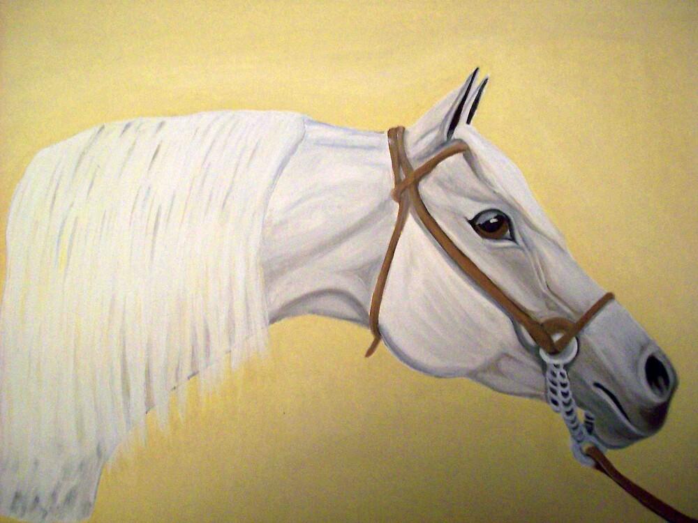 Firecracker arab horse portrait oil painting by coolart