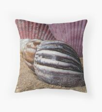 Shells in the Sand Throw Pillow
