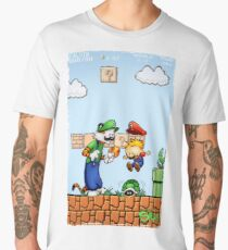 Super Calvin and Hobbes Bros. Men's Premium T-Shirt