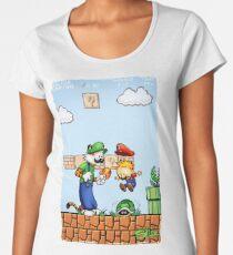 Super Calvin and Hobbes Bros. Women's Premium T-Shirt