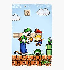 Super Calvin and Hobbes Bros. Photographic Print