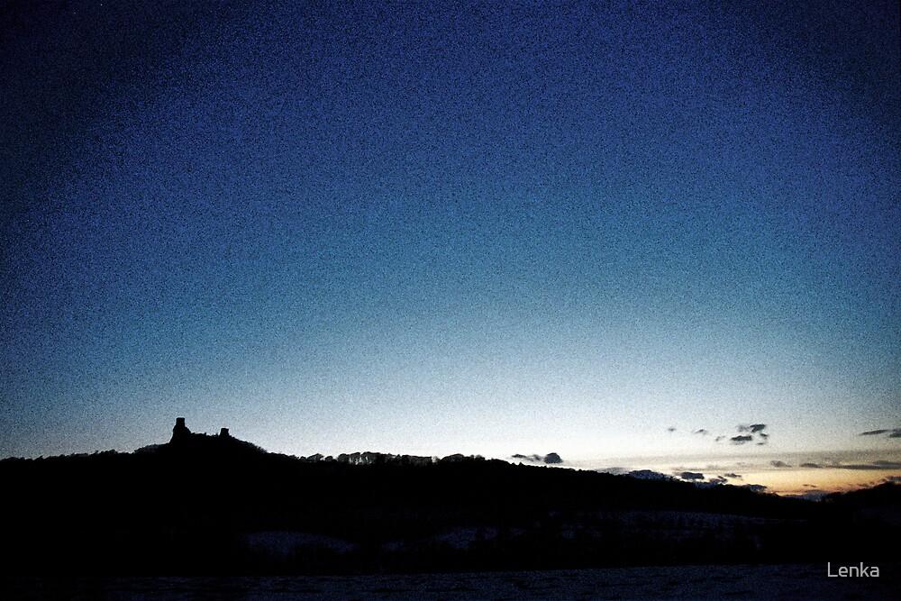 Trosky at dusk, Czech Republic by Lenka