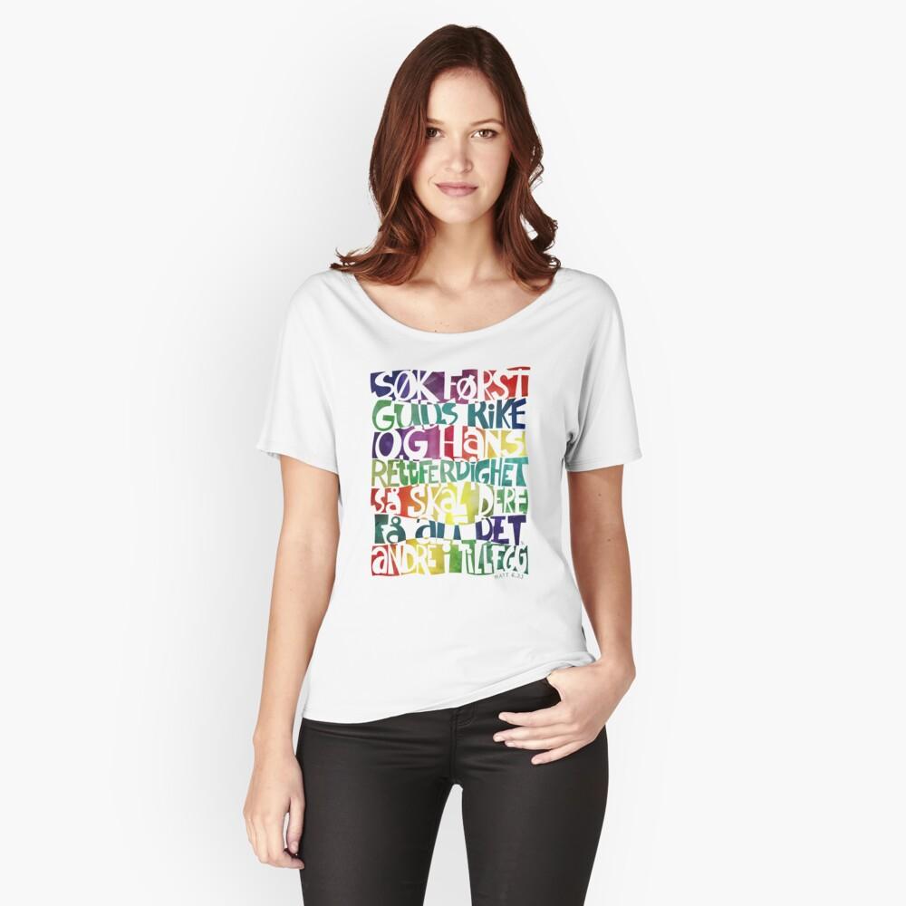 Søk først Guds rike Relaxed Fit T-Shirt