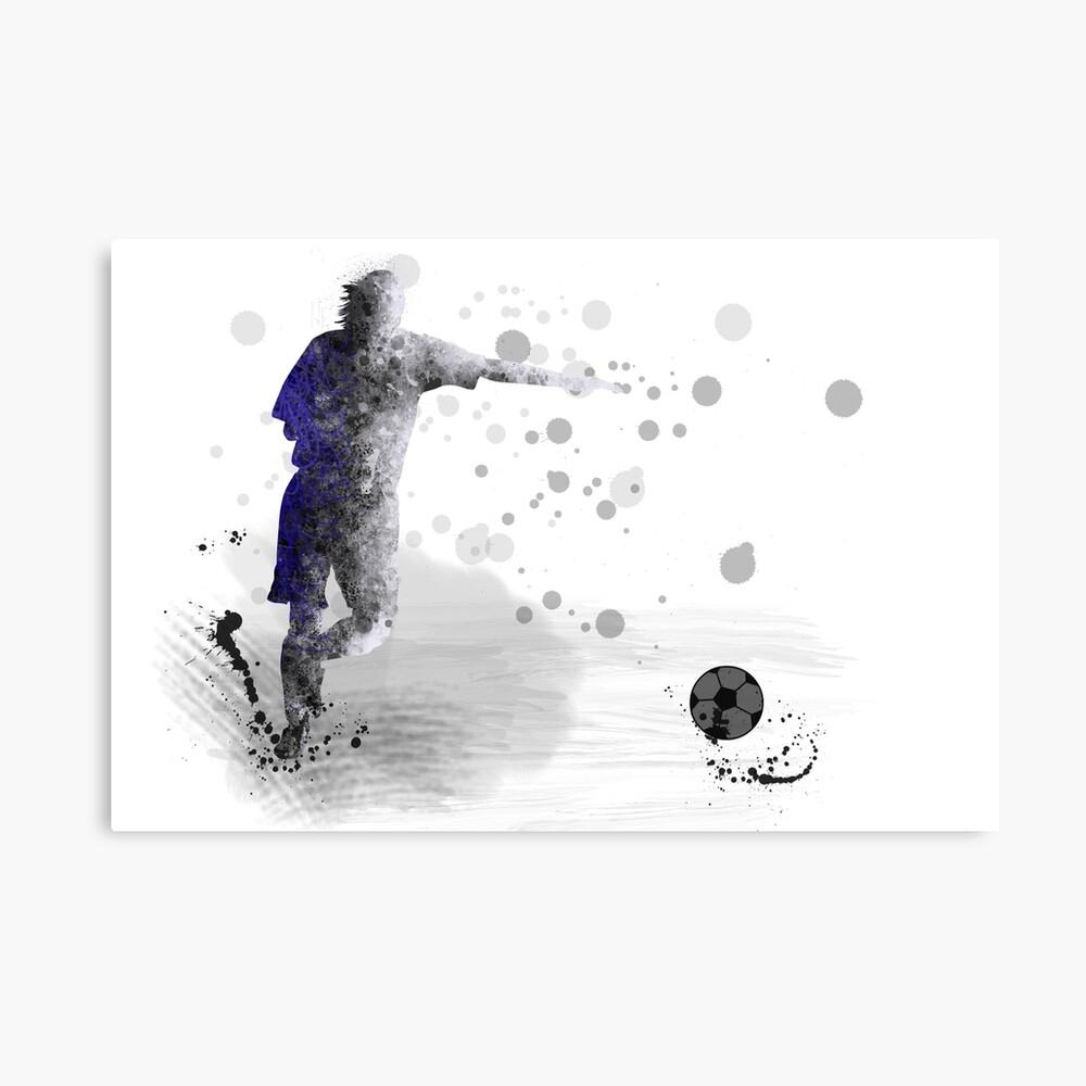 Fußballspieler 10 Leinwanddruck