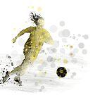 Fußballspieler 9 von Marlene Watson
