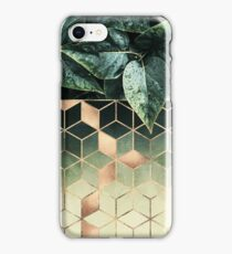 Leaves And Cubes iPhone Case/Skin