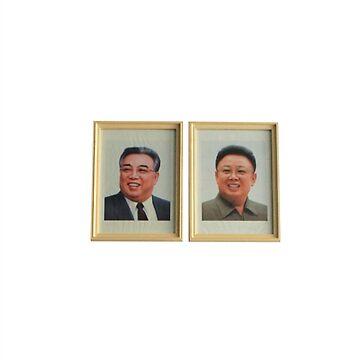 Kim Il-Sung and Kim Jong-Il Portrait DPRK by radpidgeons