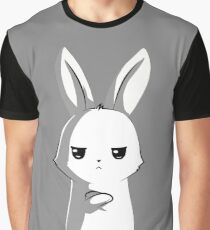 Angry Bunny Graphic T-Shirt