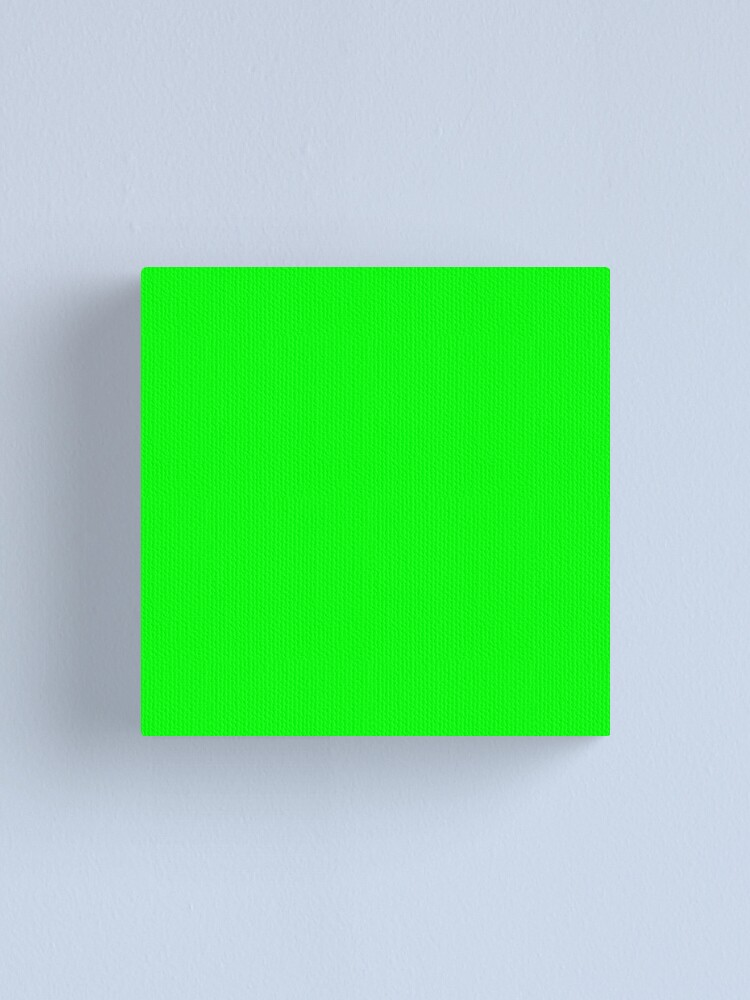 Alternate view of Neon Green Simple Solid Designer Color All Over Color Canvas Print