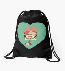 I Love Batty Heart | Fern Gully Drawstring Bag