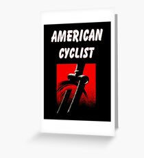 AMERICAN CYCLIST : Modern Abstract Bicycle Print Greeting Card