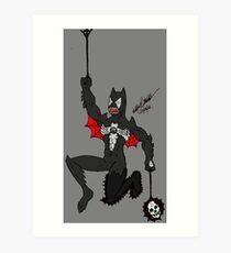 Amalgam Black Lantern Spider-Bat Art Print