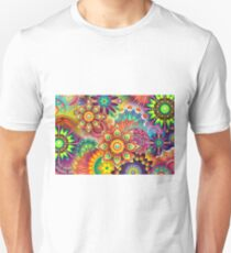 colorful abstract vector graphic T-Shirt