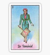 Loteria: La Feminist / La Dama Sticker