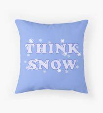 Think Snow T-Shirt Throw Pillow