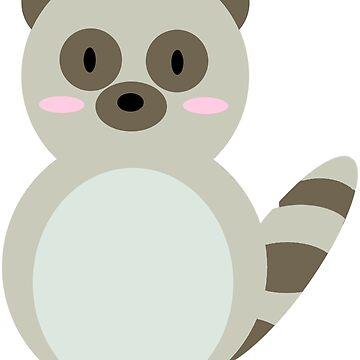 Cute Forest Friends - Raccoon by SydneyLudwick
